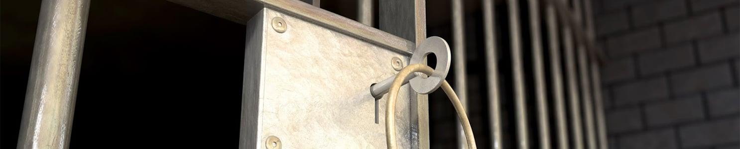 Keys in Jail Lock [166468171] copy