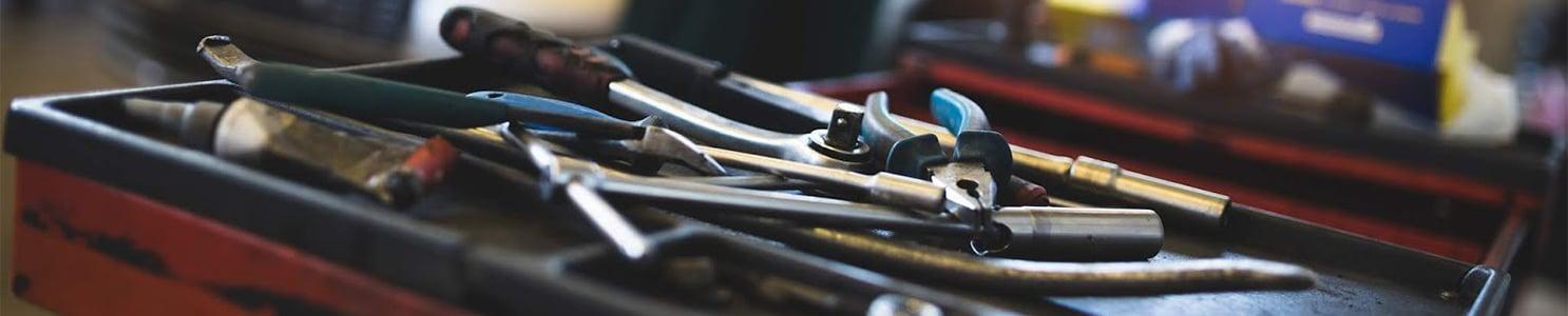 Open Box of Mechanic Tools