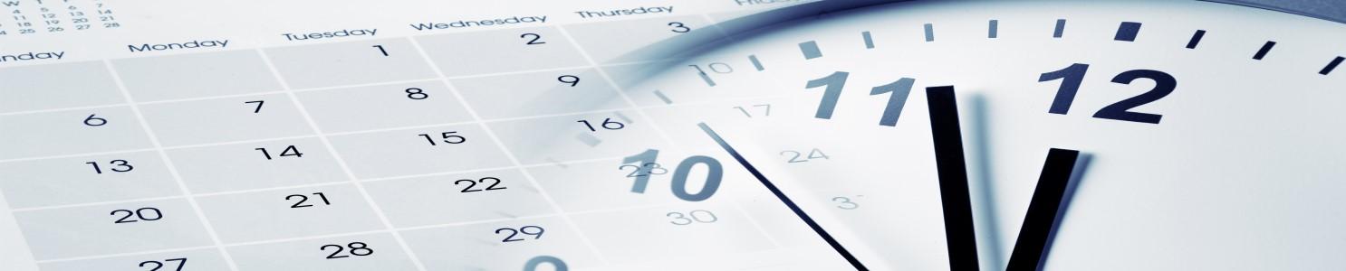 Clock Calendar Blog Banner