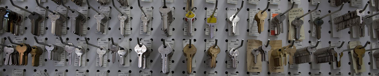 Large Group of Keys on Display in Store [150664589]
